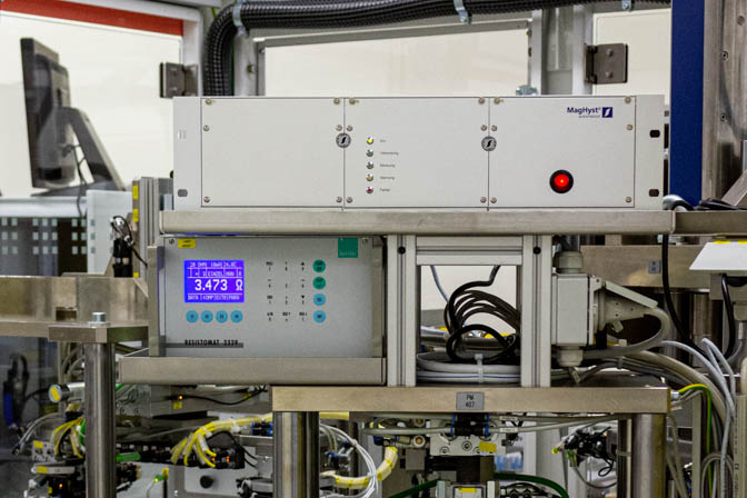 MagHyst automation for inspection during production